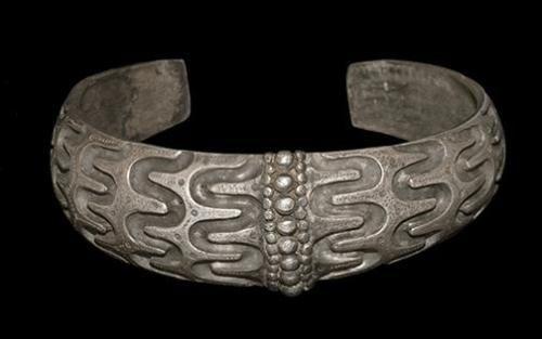 Silver Viking Orupgard Type Bracelet - 10th C AD