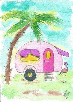 Tiny House Nation Beachy Cards Small Canvas Paintings