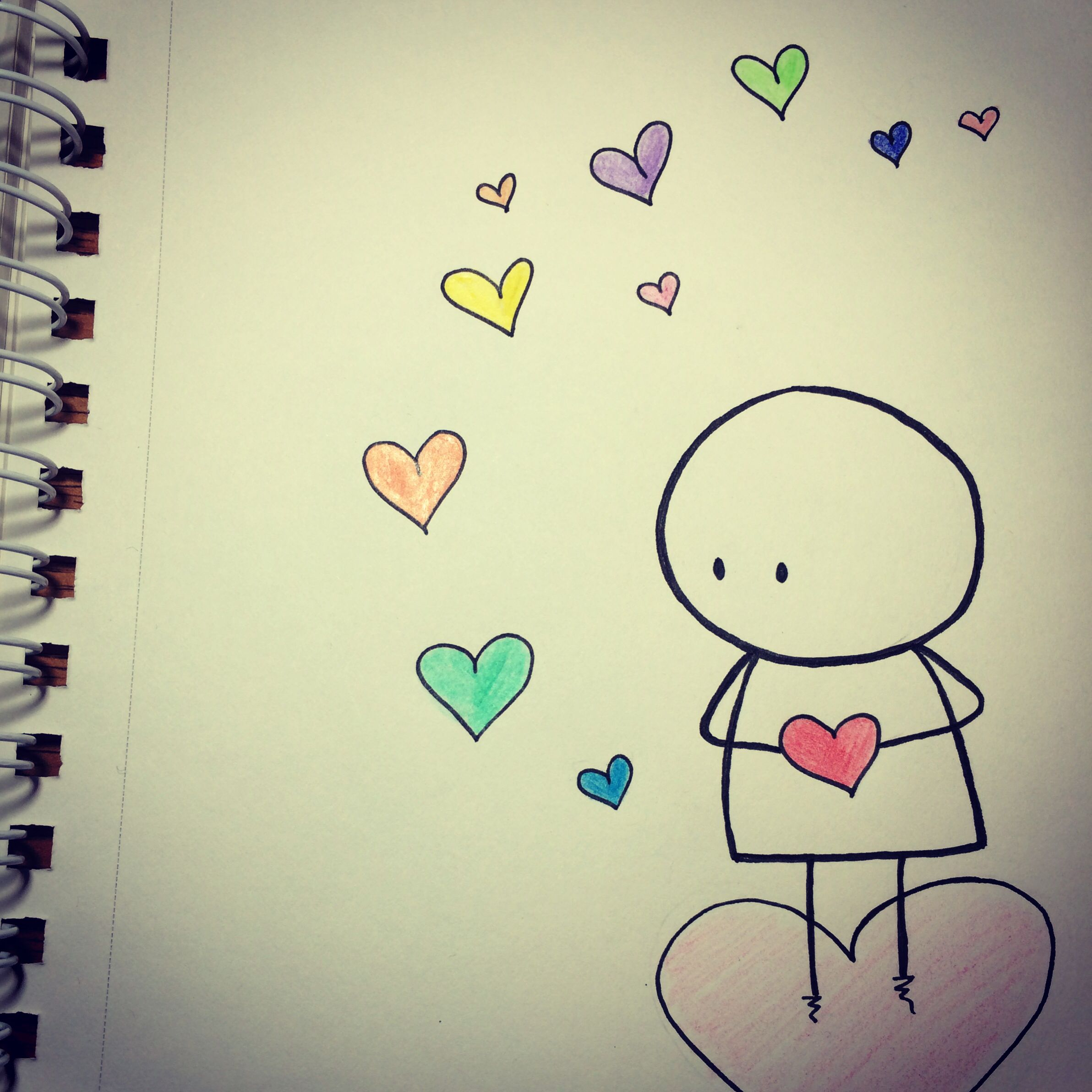 love can take your heart away | Love drawings, Cute ...