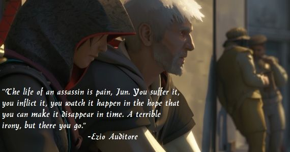 AssassinsCreed Quote via Reddit user jasonpressX #Ezio
