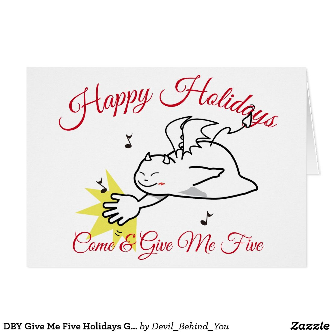 Dby Give Me Five Holidays Greetings Card Dby Miscellaneous