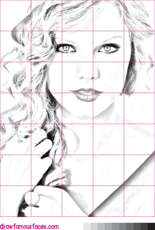 Image result for grid drawing celebrities