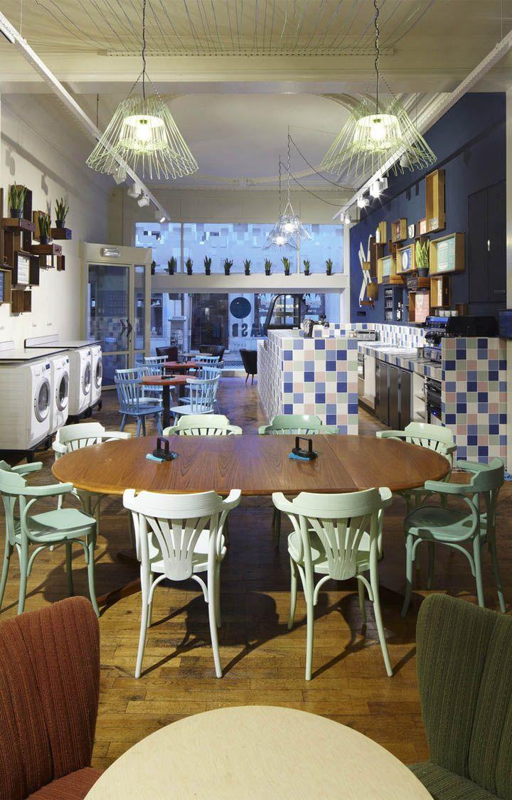 Wasbar laundromat bar hair salon by pinkeye ghent for Design hotel antwerpen