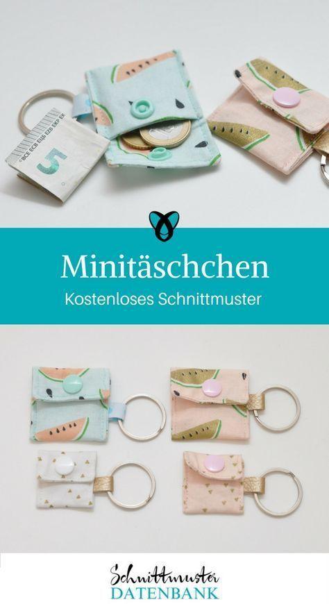 Minitäschchen 4/5 (1) | Nähen | Pinterest | Nähen, Geldbörse nähen ...