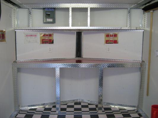 Aluminum Race Trailer Cabinets Trailer Storage Enclosed
