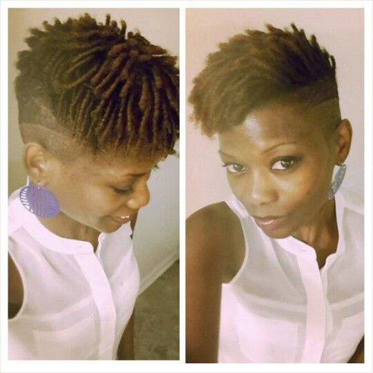 shaved sides and comb coils twa