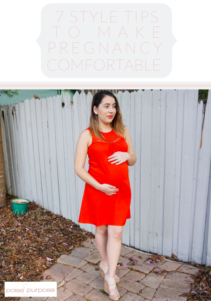 I can't wait to feel some comfort in my pregnancy again with these 7 style tips by Poise and Purpose.