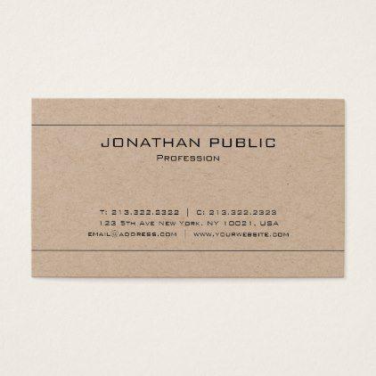 Elegant modern plain brown kraft paper luxury business card luxury elegant modern plain brown kraft paper luxury business card luxury business cards reheart Gallery