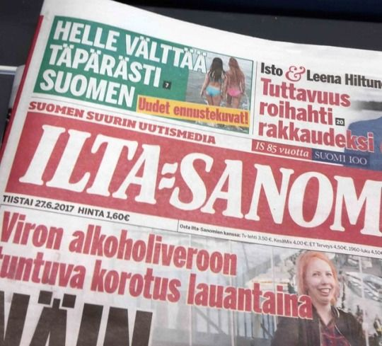 27 June 2017 Helle Narrowly Misses Finland New Forecast Images Ilta Sanomat Can T Get Over The Fact That No It S Not Coming H Finland Get Over It Facts