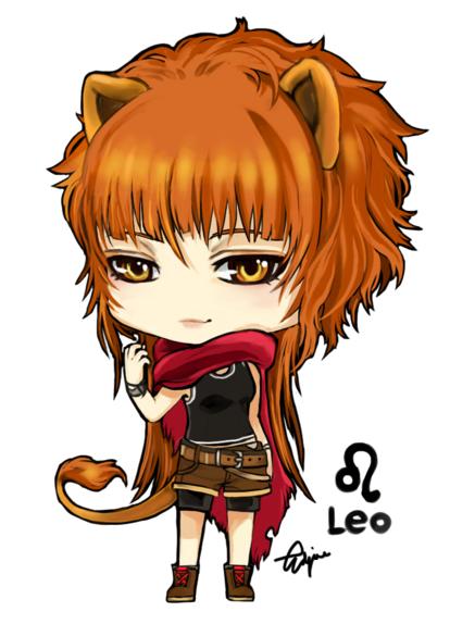 little Leo chibi | Leo zodiac, Anime zodiac, Zodiac art