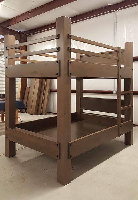 Tall Queen Over Bunk Bed With, Diy Queen Bunk Beds