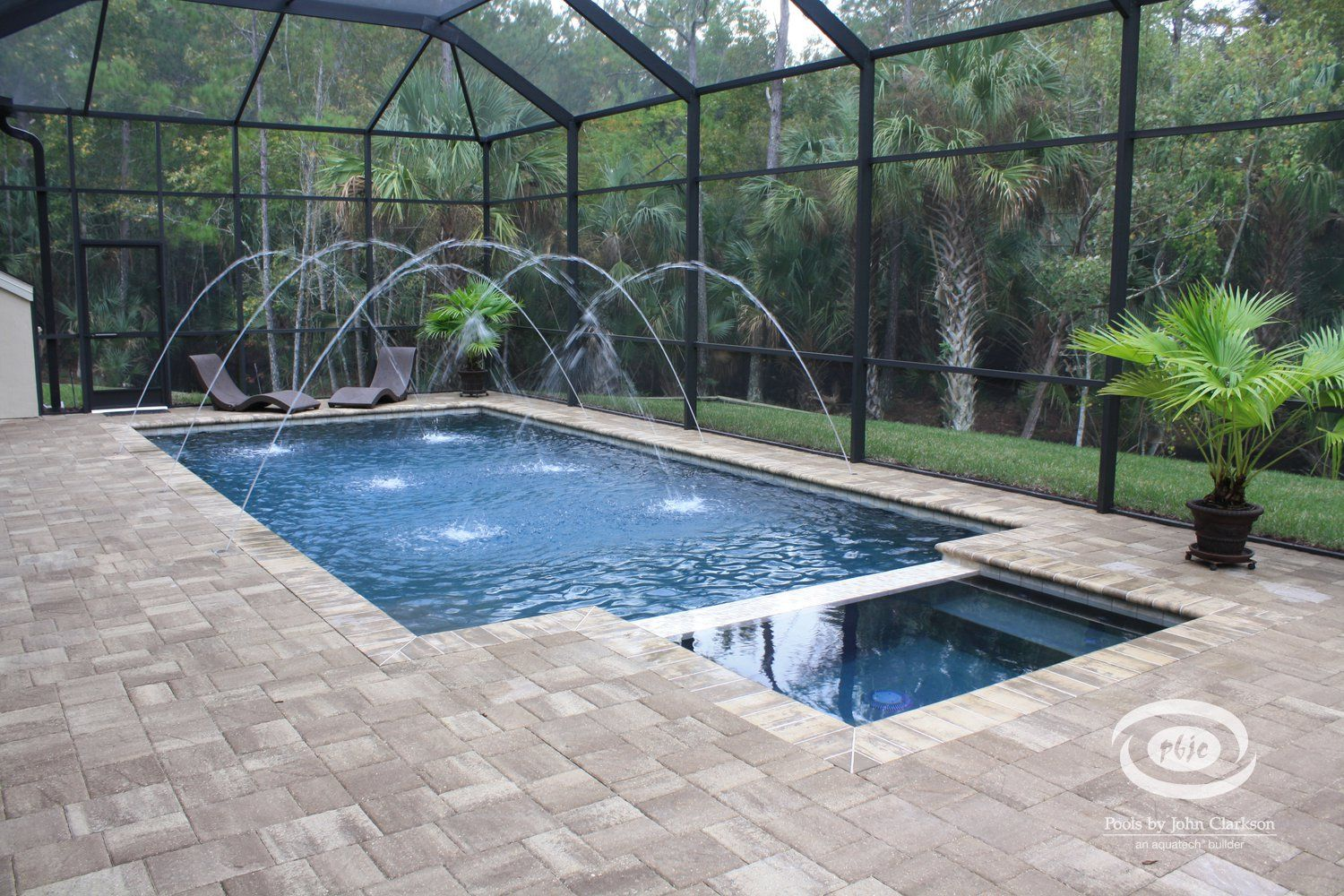 Residential linear swimming pool builder jacksonville for Pool design jacksonville fl