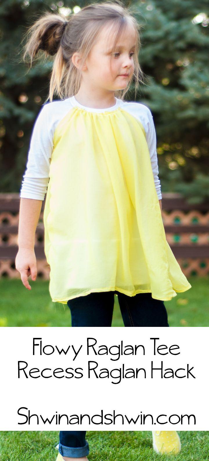 Flowy Raglan Tee | Pinterest | Raglan, Schnittmuster und Shirts