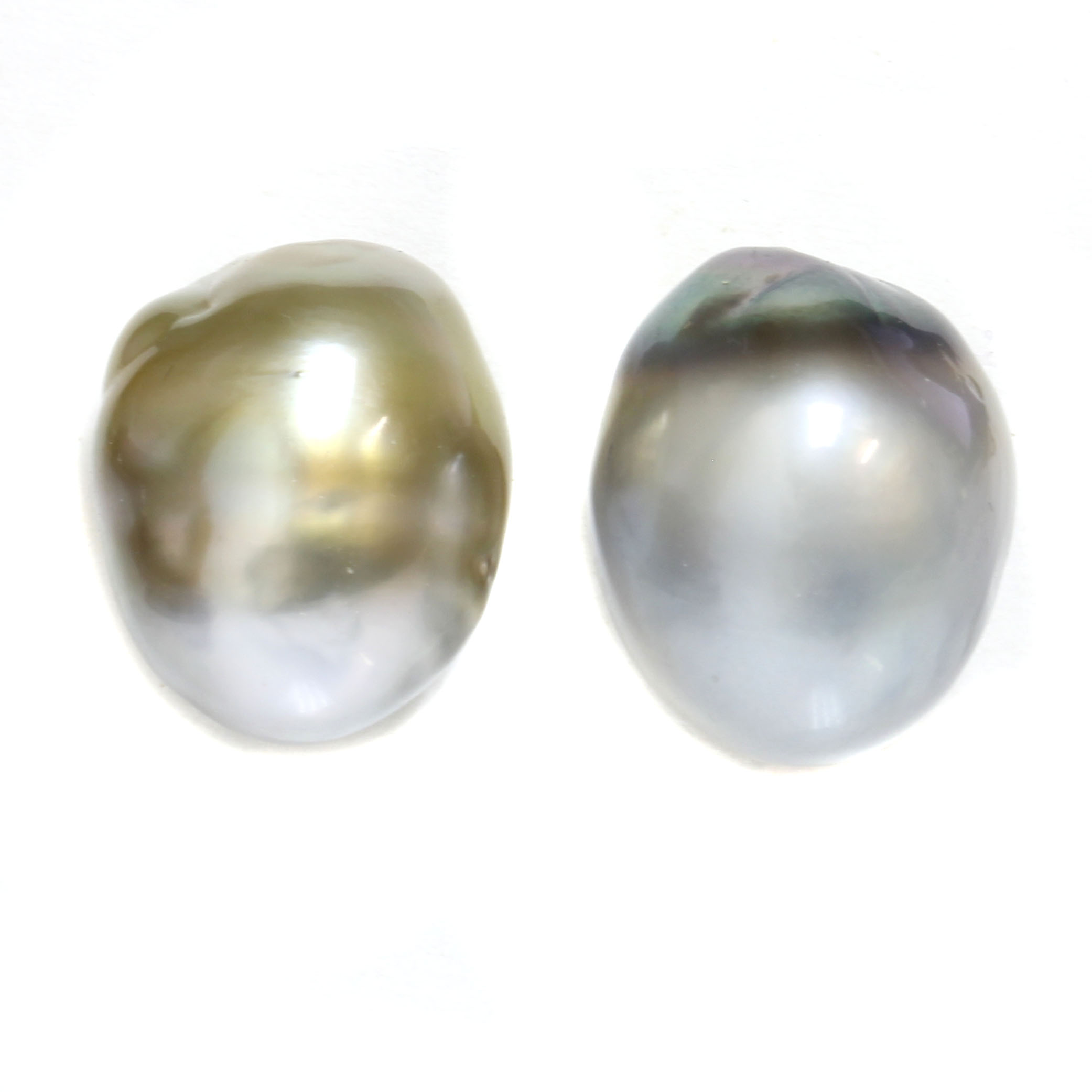 Tahitian Baroque Pearl Stud Earrings Are Absolutely Gorgeous And Unique These Studs Rare In Color Size Shape If You Love Statement Jewelry