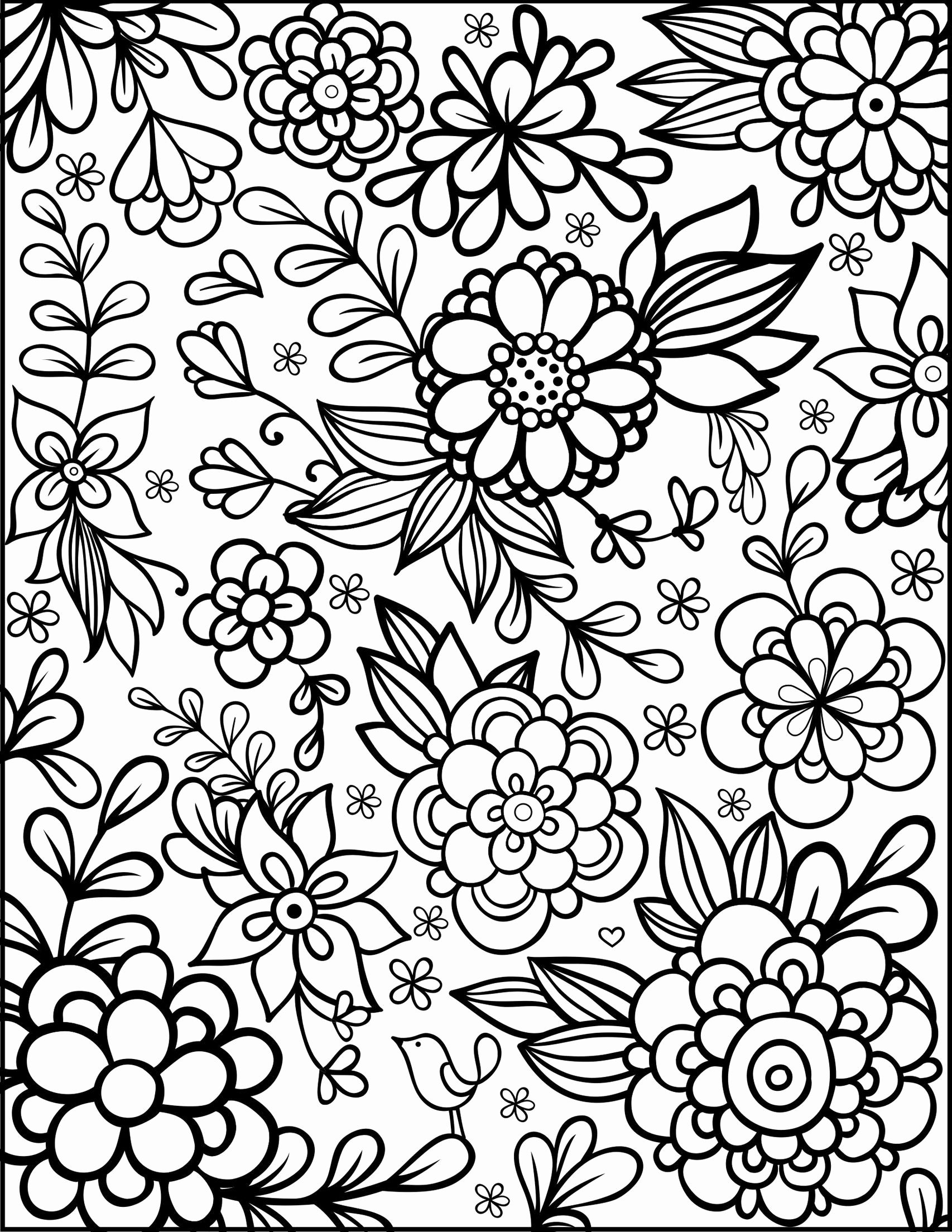 Pin On Flower Coloring Pages For Kids