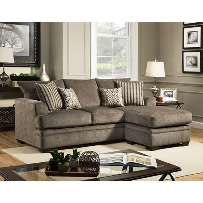 Cornelius Pewter Chaise Sofa by American Furniture Manufacturing. Get your Cornelius Pewter Chaise Sofa at Seat-N-Sleep Portage MI furniture store.  sc 1 st  Pinterest : chaise sofa canada - Sectionals, Sofas & Couches