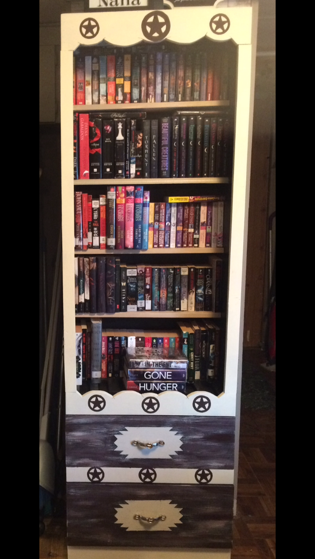 My Diy Western Rustic Bookshelf Was A Fun Cabinet But Of Course I Needed Another For All Books