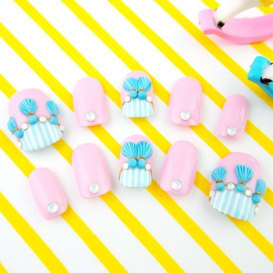 Pastel Pink *3D Tassel Nail