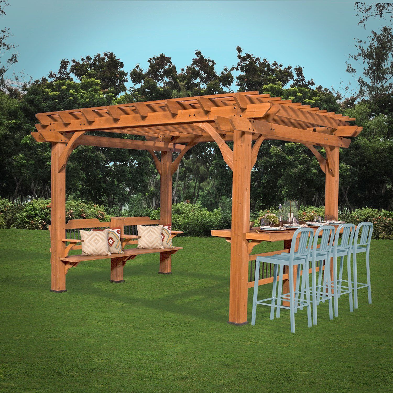 Spend Quality Time Entertaining Beneath The Oasis Pergola By