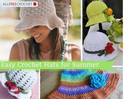 41 Crochet Summer Hat Patterns Easy Crochet Hats Pinterest Easy