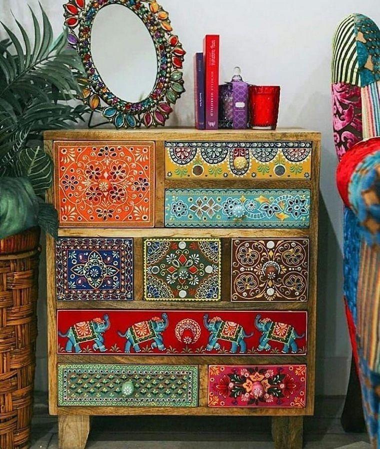 Inspiring Boho Furniture Ideas for 2019 | Hippie Boho Gypsy  – DIY Möbel, Shabby, Vintage…..