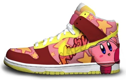 custom Kirby Nike sneakers