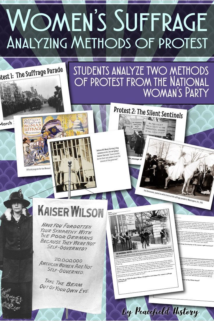 Photo of Women's Suffrage Analyze the Methods of Protest