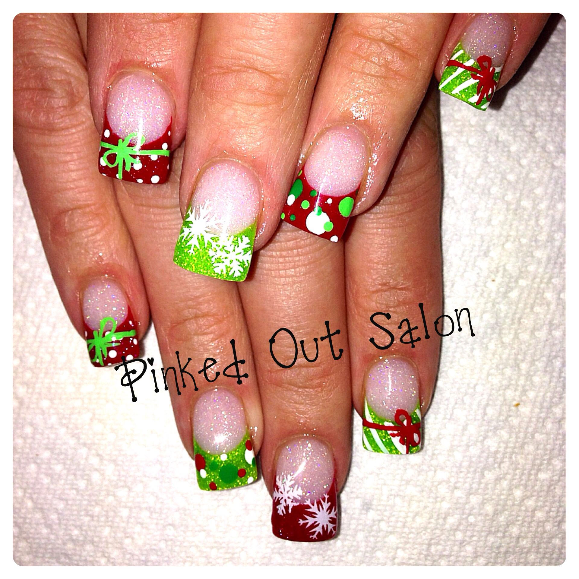 Bright Christmas fun! Check out Pinked Out Salon on Facebook ...