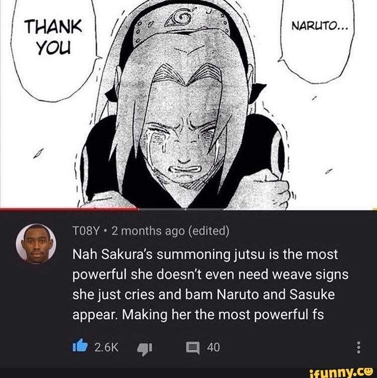 Ago Edned Nah Sakura S Summoningjutsu Is The Most Powerful She