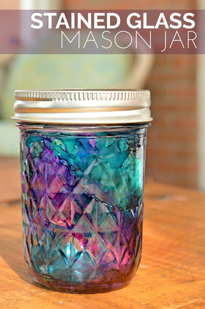 Stained Glass Mason Jars Easter Mad In Crafts Mason Jar Diy Projects Spring Mason Jar Diy Staining Mason Jars
