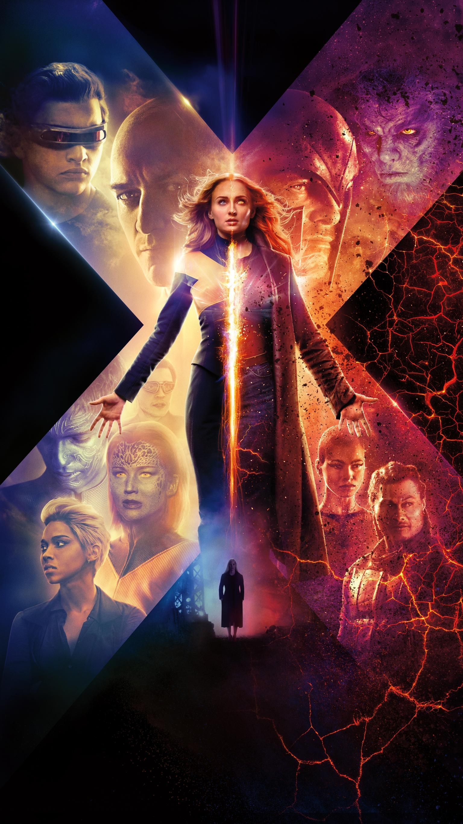 Dark Phoenix 2019 Phone Wallpaper Moviemania In 2020 Dark Phoenix Phoenix Wallpaper X Men