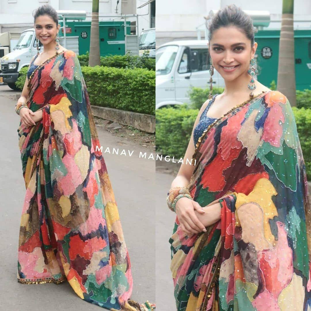 Deepikapadukone Closet On Instagram Today S Look Chhapaakpromotions Deepikapadukone Bollywood Designer Sarees Deepika Padukone Style Fashion Clothes Women