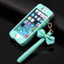 Luxury BOW Chain Wristlet Strap Pouch Sleeve Leather Case for iPhone 5 5G 5S NEW