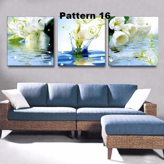 Beautiful Vivid 3 Piece Floral Flower Multiple Floral And Size Choices Flower Painting Canvas Wall Painting Flowers Flower Canvas