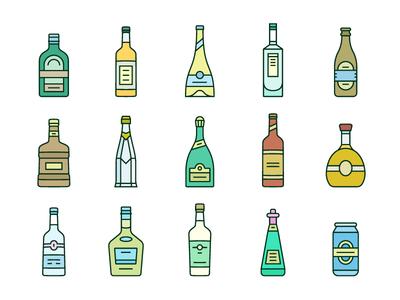 Bottle icons