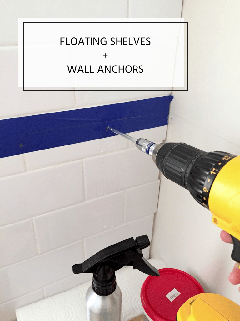 How To Install Floating Shelves On A Tile Wall Using Wall Anchors Floating Shelves Wall Tiles Floating Shelves Diy