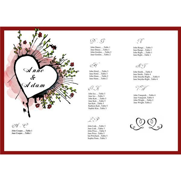 tips on creating a wedding seating chart  free sample template for download