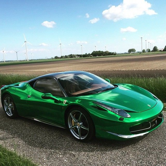 Emerald Green Ferrari 458 Italia Fancy Cars Ferrari 458 Hot Cars