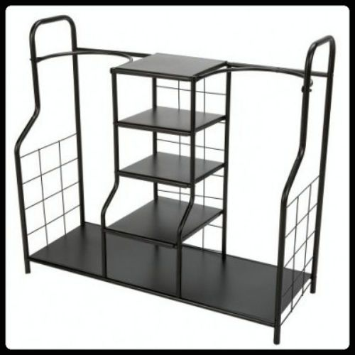 Metal Organizer Rack For Golf Bags Sports Equipment Clubs Gear Shoes With Storage Shelves
