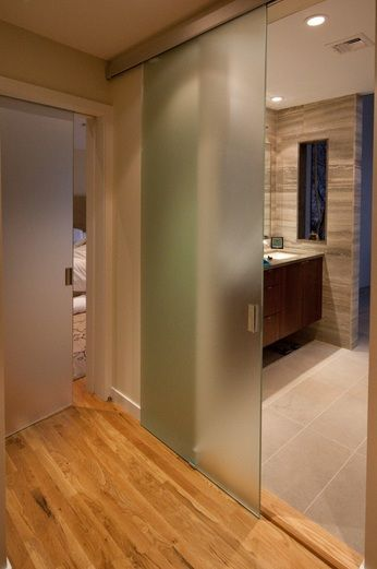 Bathroom Entry Doors With Full Sliding Frosted Gl Decolover