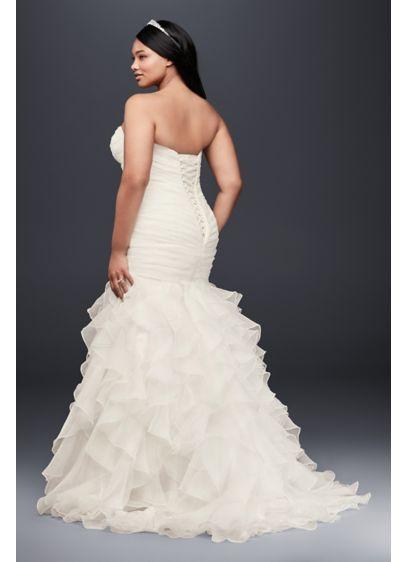 6b3aa5c3 Ruffled Organza Plus Size Mermaid Wedding Dress Style 9WG3832, White ...