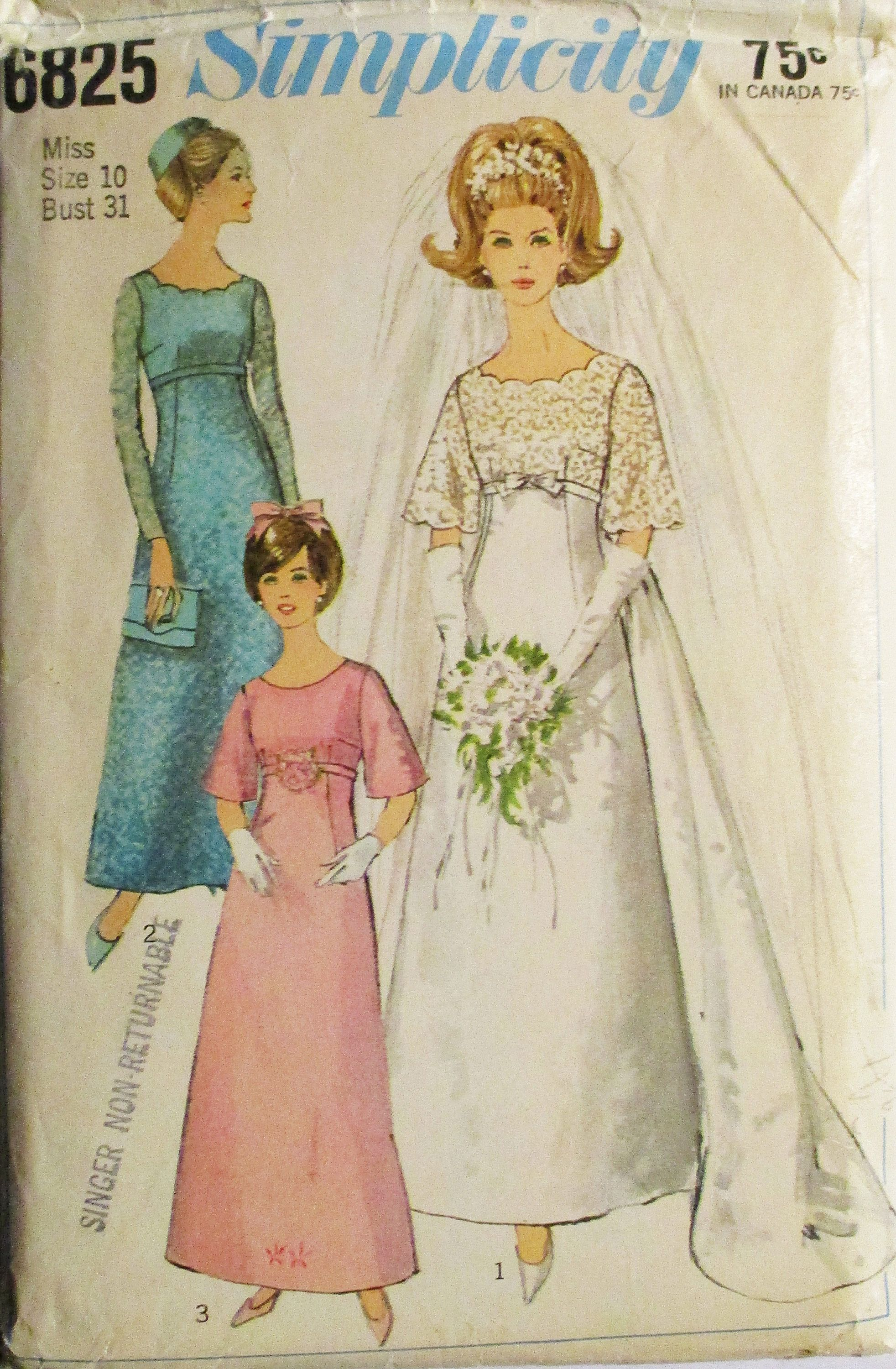 1960s vintage sewing pattern simplicity 6825 misses wedding dress 1960s vintage sewing pattern simplicity 6825 misses wedding dress bridesmaids dress evening gown pattern jeuxipadfo Gallery