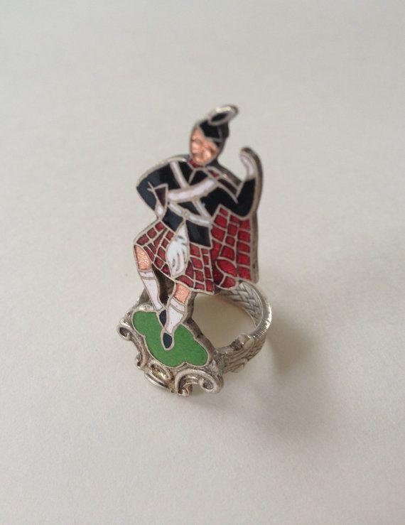 Scottish Dancing Spoon Ring scotsman kilt by GeorginaBaker on Etsy, $36.00