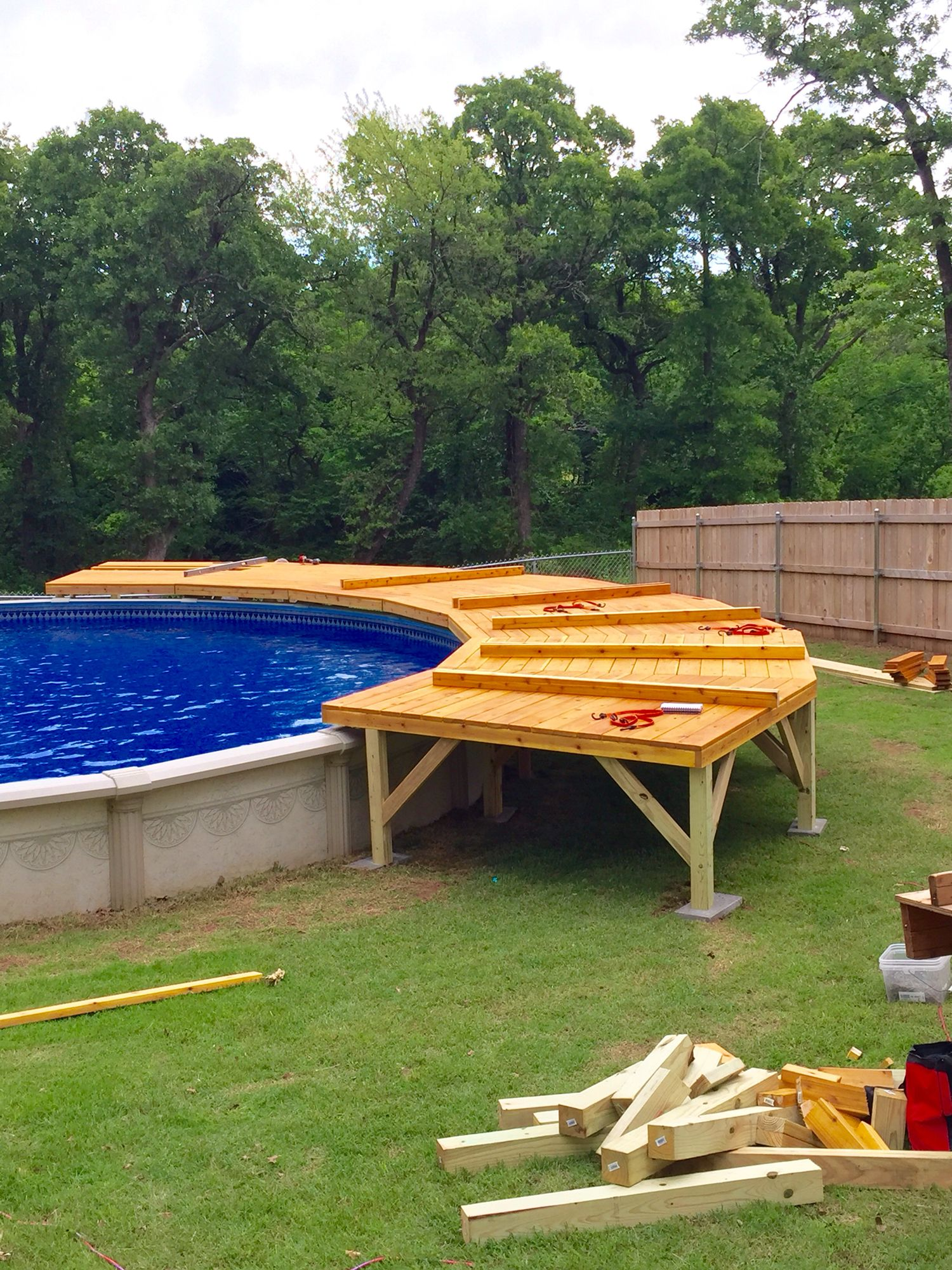 Getting it started above ground pool decks in 2019 - How to build an above ground swimming pool ...