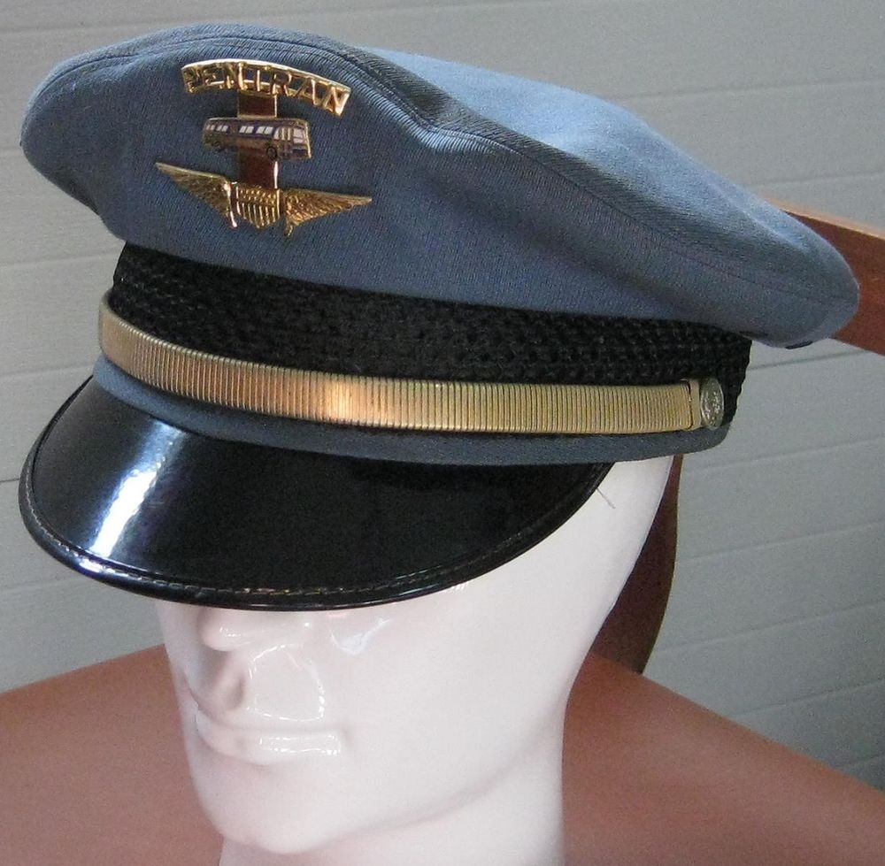 a373cee66 Vintage PENTRAN Bus Driver HAT with WINGS BUS Hat BADGE Crusher ...