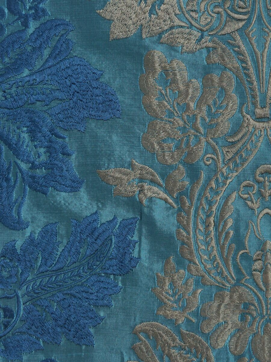 Halo Embroidered Vase Damask Tab Top Dupioni Curtains | Cheery ...
