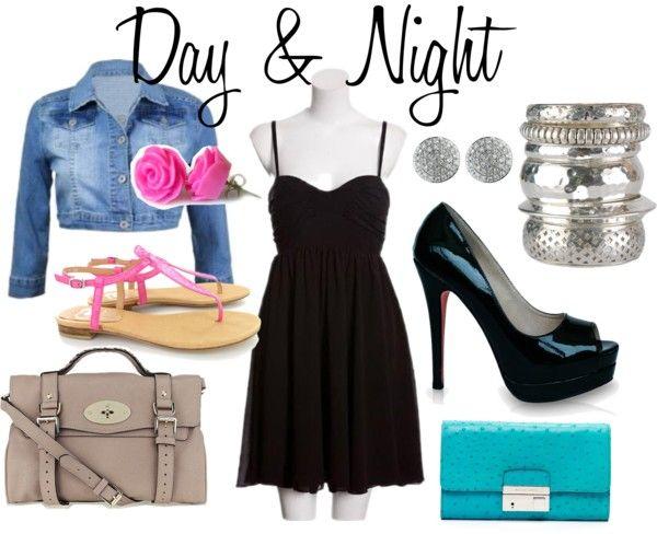 """black dress: day & night :)"""