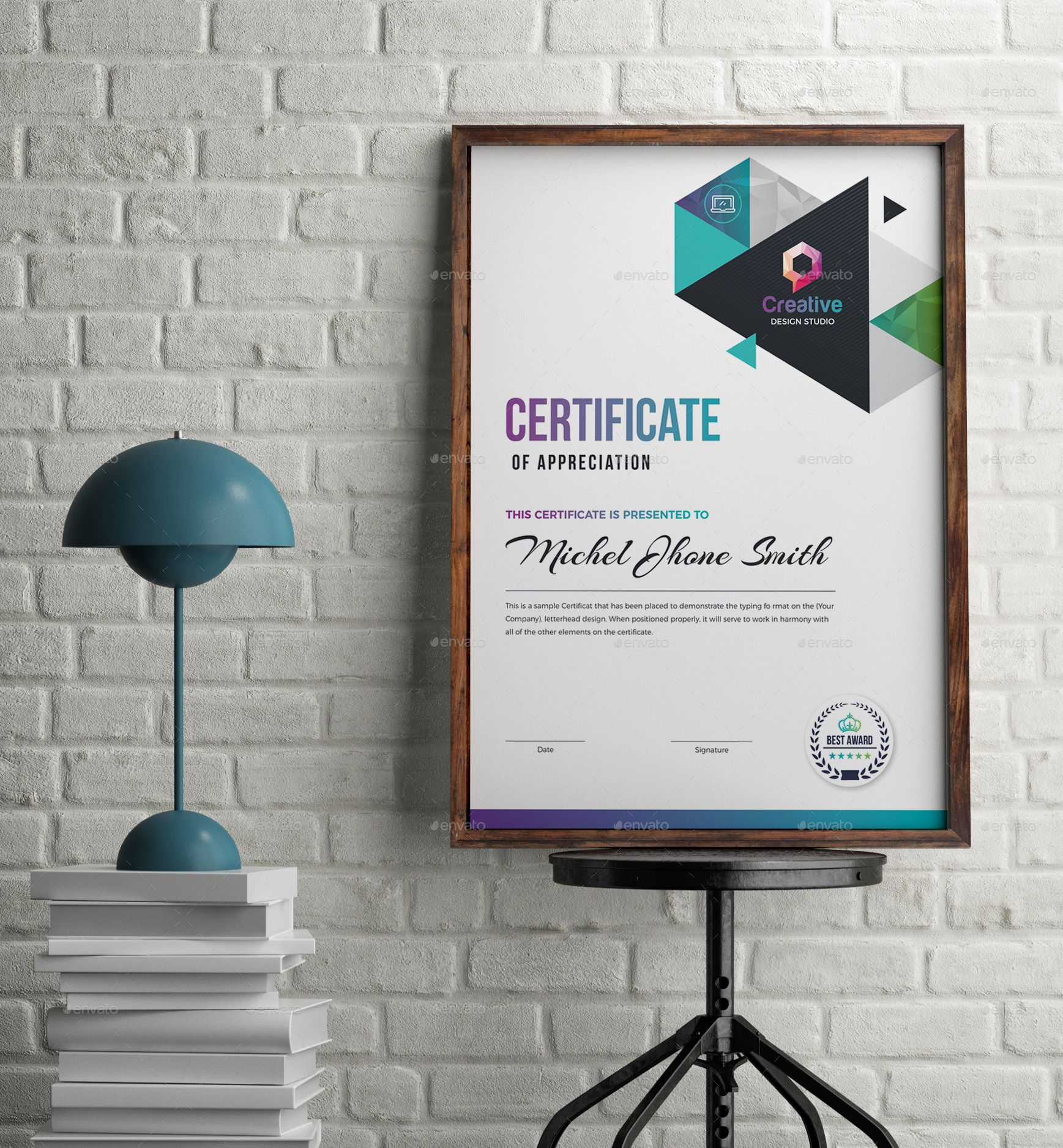 Certificate #blue certificate, #both side design, #certificate