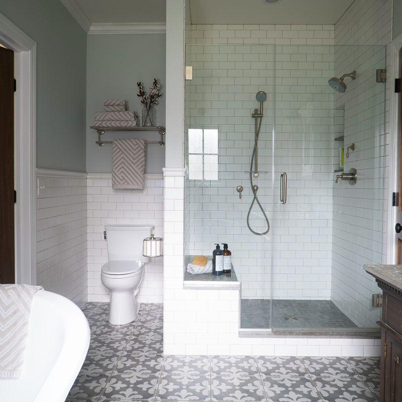 Pattern Floor Bathroom Remodel Badrumsinterior Inredning Badrum