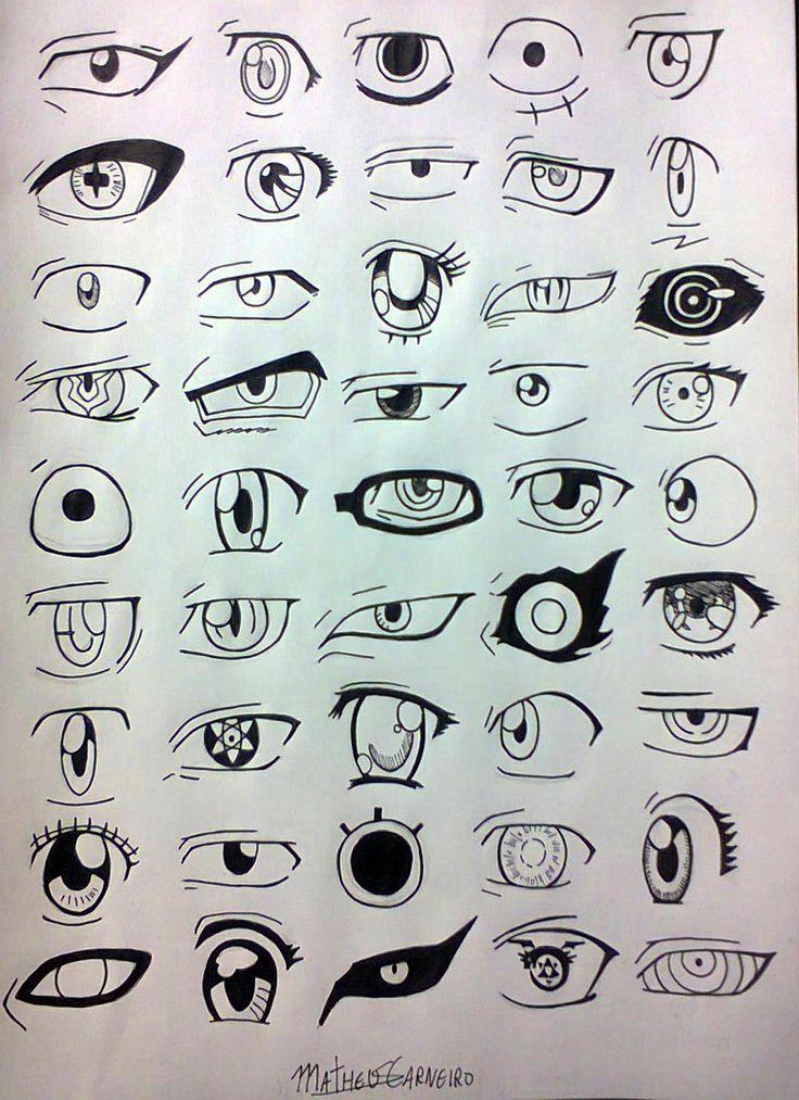 Desenhos, Mangá, Anime, Olhos, 45 Designs, Para Melhorar O Seu Desenho
